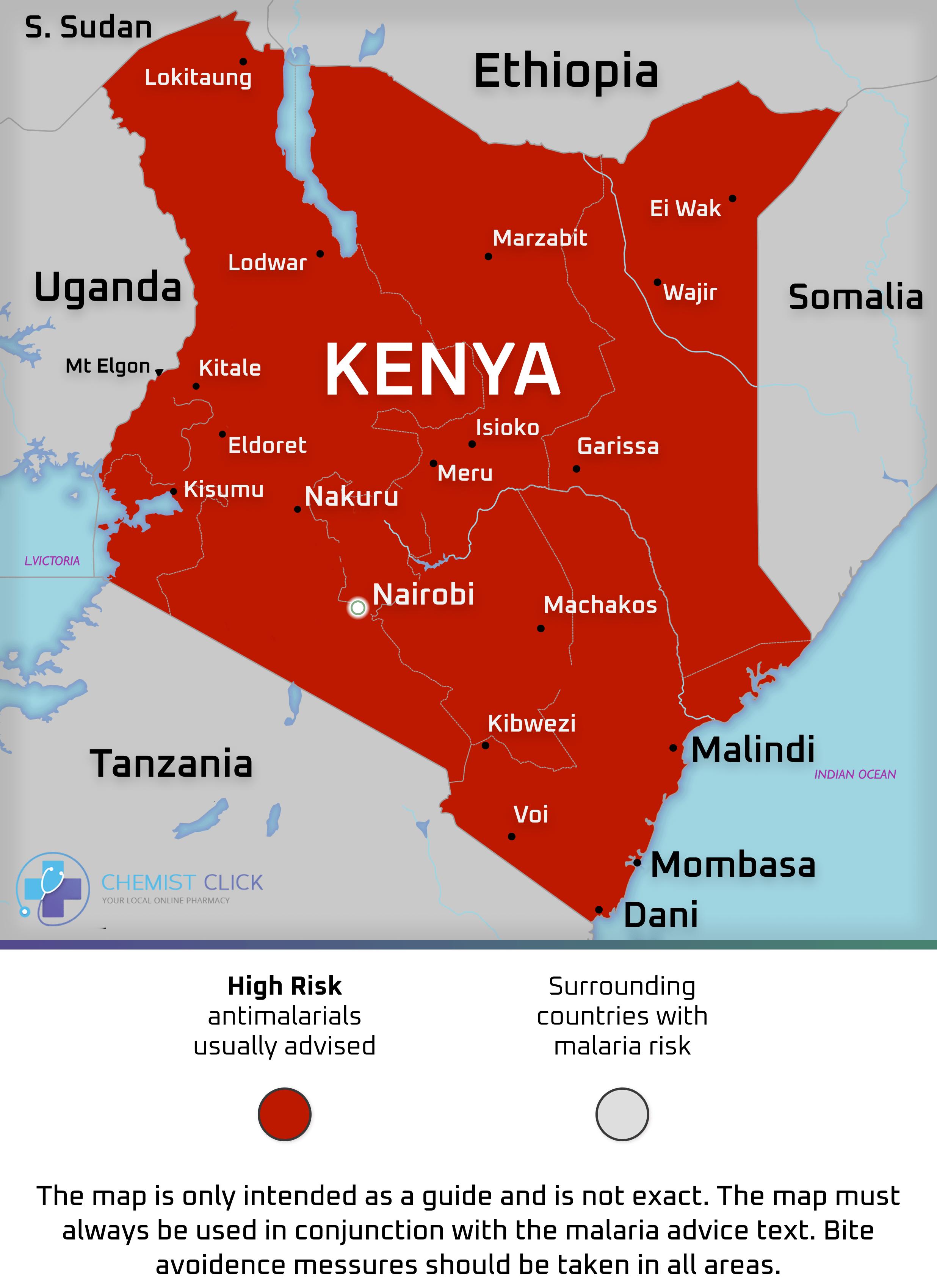 Kenya Malaria Map