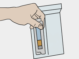 Place contents into box and seal