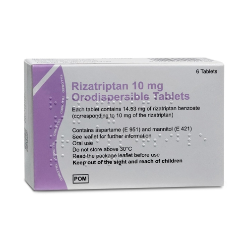 Rizatriptan 10mg orodispersible 6 tablets